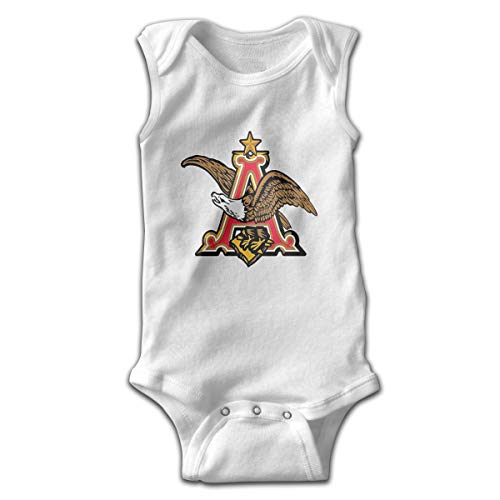 Classic Bud-Weiser Baby Bodysuits Sleeveless Infant Onesuits Jumpsuit Romper Outfit White]()