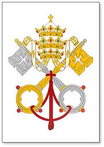 Vatican City Coat Of Arms Flag - Classic Fridge Magnet Classic Coat Of Arms