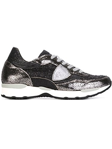 Philippe Model Sneakers Donna CYLDTW03 Pelle Argento/Nero