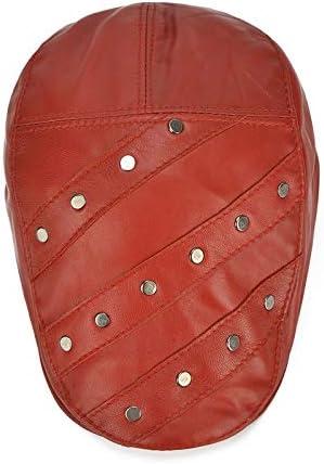 MXLTIANDAO キャスケット メンズ ハット ゴルフ 革 調整可能 防風 日よけ ハンチング 56-60cm 帽子