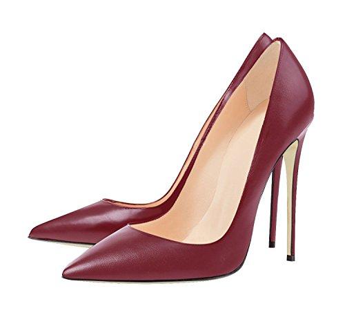 Büro Schwarz Klassische Pumps Stiletto Damen Rot01 High Wein Kleid Sexy Heels Jushee 7TxU8qw8