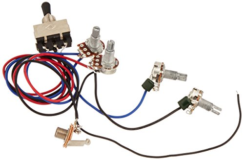 lotmusic Wiring Harness Prewired 2v2t 3way Toggle Switch Jack 500k Pots for Gibson Replacement Guitar- 1 set