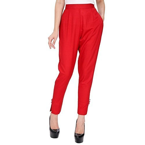 e85972a70 Femezone Cotton/ReyonCigarette Pants With Narrow Bottom for Women &  Girls,Rani: Amazon.in: Clothing & Accessories