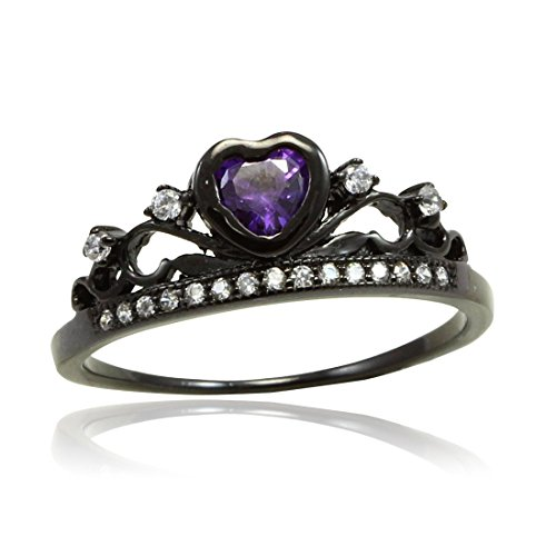 Round Amethyst Fashion Ring - 8