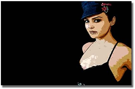 Preity Zinta Retro Cartoon Effect 2 Bollywood Indian Hindi Size 36 X 24 90cm X 60 Cm Approx Canvas Art Picture Print Framed Canvas Amazon Co Uk Kitchen Home