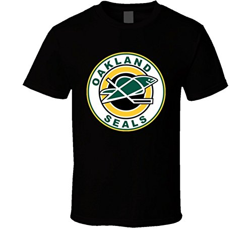The Village T Shirt Shop Oakland Seals Retro Old School Hockey T Shirt XL ()