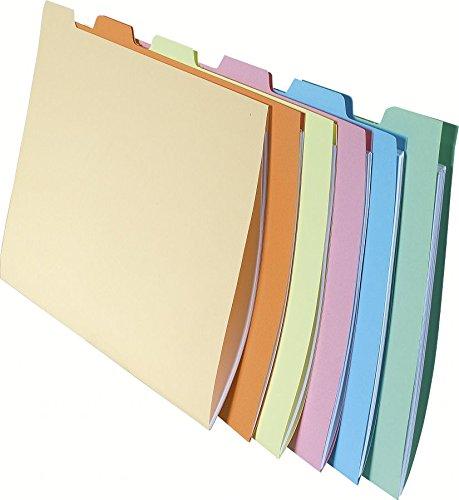 Exacompta 337000E Aktenmappen (Hängeregistraturen, Schubladen, 24x16 cm, DIN A4) 60er Pack 6 Farben sortiert