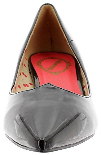 Banned Kitten Heel Pumps Vilma BND057 Black