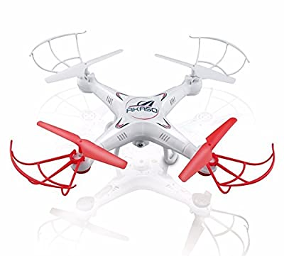 Akaso X5C 4-Channel 2.4-GHz 6-Axis Gyro Headless 360-Degree 3D Rolling Mode RC Drone Quadcopter with HD Camera, Micro SD Card and Blades Propellers