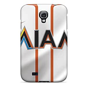 ColtonMorrill Samsung Galaxy S4 Protective Cell-phone Hard Covers Custom Nice Miami Marlins Pattern [ZWD3753aKWS]