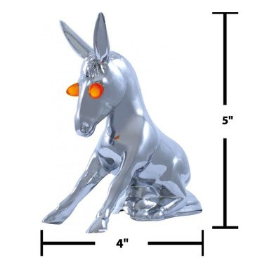 CPW (tm) Donkey Hood Ornament with LIGHT UP EYES! NEW!