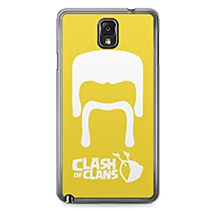 Clash of Clans Samsung Galaxy Note 3 Transparent Edge Case - Barbarian