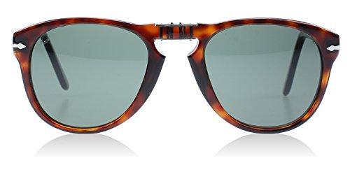 Persol Mens Sunglasses Tortoise/Green Acetate - Non-Polarized - -