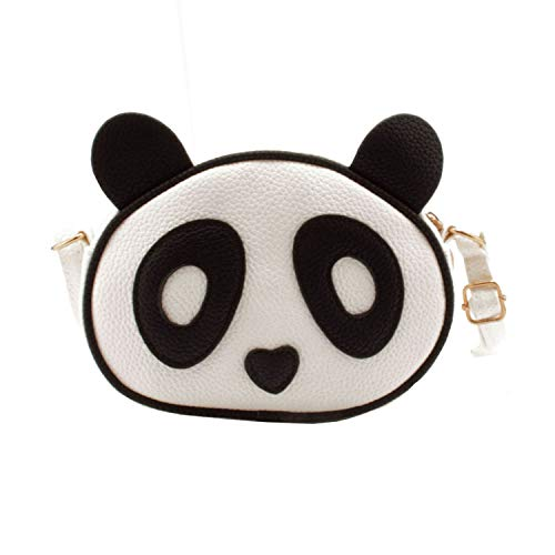 Jiaruo Cute Panda Children Women's Cross Body Bag Handbag Messager Bags (white)