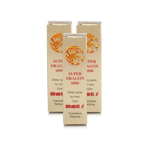 Super Dragon 6000 Delay Spray 12ml MORE TIME MORE FUN 3 Pack PLUS LOVE POTION PEN