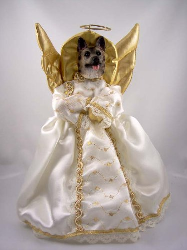 German Shepherd Angel - German Shepherd Angel Christmas Tree Topper