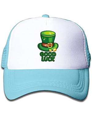 Good Luck Saint Patrick's Day Baby Boys AdjustableTrucker Visor Cap Cute Hat