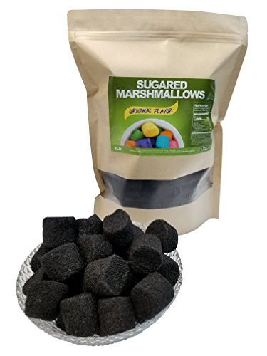 Sugared Marshmallows Black 2 Pounds 100 Pieces-Black Candy