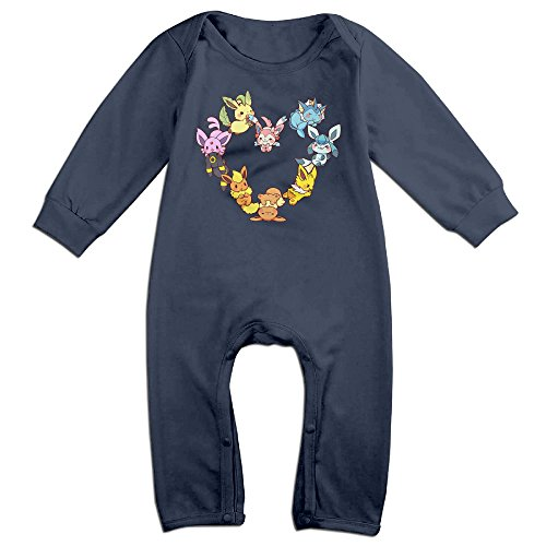 Ahey Babys Eevee Family Heart Long Sleeve Bodysuit 18 Months