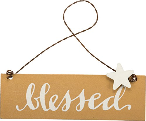- PBK Fall Decor - Small Tin Ornament Sign Blessed #33697