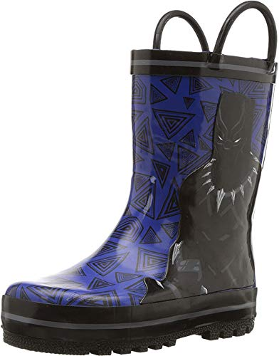 Favorite Characters Baby Boy's AVF504 Black Panther¿ Rain Boot (Toddler/Little Kid) Blue 11 M US Little Kid]()