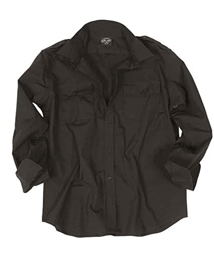 f5808169e1b 100% Cotton Ripstop Field Shirt in Black