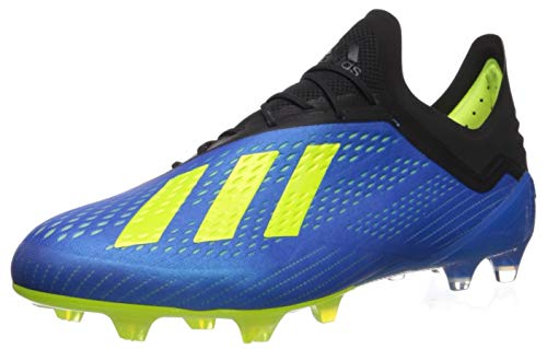 adidas Men's X 18.1 FG Soccer Shoe, Football Blue/Solar Yellow/Black, 13 Medium US