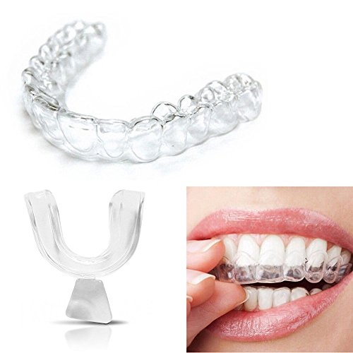 - 4PCS Transparent Silicone Thermoform Moldable Dental Mouth Guard, Whitening Teeth Trays Whitener Mouth Guard Care Oral Hygiene Bleaching Tooth Tool