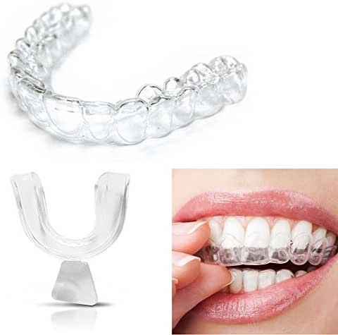 4PCS Transparent Silicone Thermoform Moldable Dental Mouth Guard, Whitening Teeth Trays Whitener Mouth Guard Care Oral Hygiene Bleaching Tooth Tool
