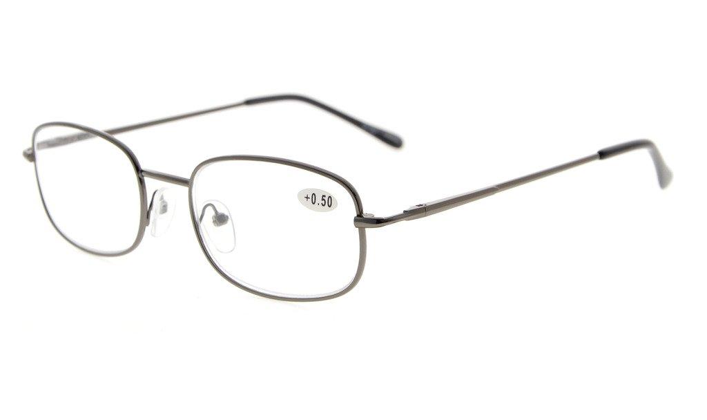 Eyekepper Lettori di occhiali di qualità cerniera a molla tempie lettura Gunmetal +1.75 RWxf7Q
