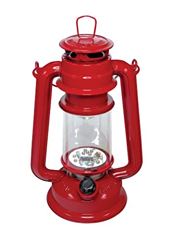 SE FL805-15R 15-LED Red Hurricane Lantern with Dimmer Switch (Red Hurricane)