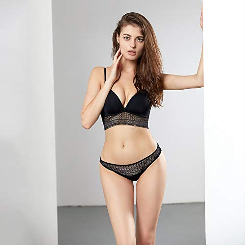 WoAiNiLiang Bra Lace Bra Set Push up brassier Women Underwear Mousse Lingerie Set Solid Color Wholesale Price,Black,XL or 38ABCD 85ABCD