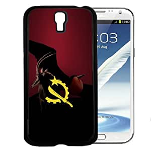 Angola Flag with the National Animal Sable Antelope 2-piece Dual Layer High Impact Black Silicone Cover Case (Samsung Galaxy s4 i9500)