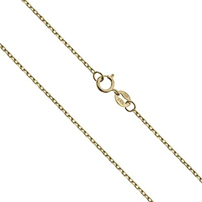 14K Solid Yellow Gold Cable Chain Necklace from Honolulu Jewelry Company