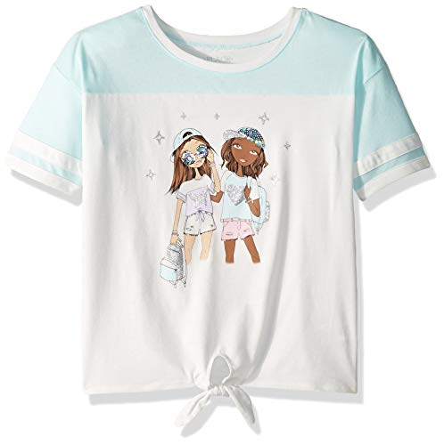 Cute Girl Young (The Children's Place Girls' Big Novelty Graphic T-Shirt, Blue Coral, XL)