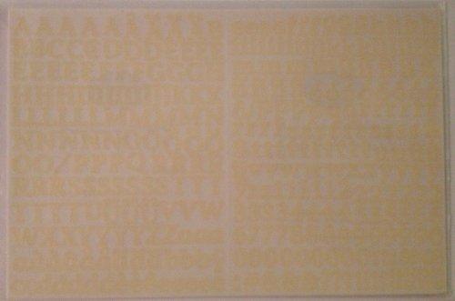 Mini ABC/123 Stickers: Ivory Classy ()