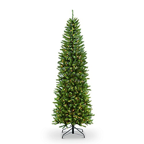 Puleo International 4.5-Foot Pre-Lit Fraser Fir Artificial Pencil Tree with 150 UL-Listed Clear Lights (Trees White Fir)