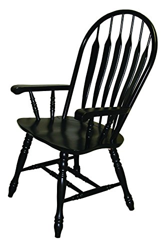 Sunset Trading Comfort Dining Arm Chair, Antique Black, 41""