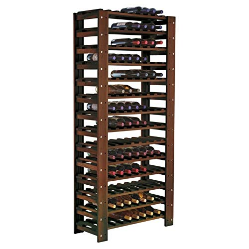 Darby Home Co 126 Bottle Dark Walnut Floor Wine Rack + Free Basic Design Concepts Expert Guide ()