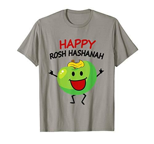 - Cute Apple Saying Happy Rosh Hashanah Funny Jewish Tee Shirt