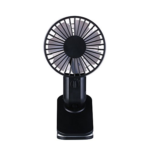 INorton Mini Clip Fan, 2 Speed Adjustable Portable USB Air Cooling Fan,Ultra-Silent Double Blades Table Fan for Home,Office, Outdoor Travel by INorton