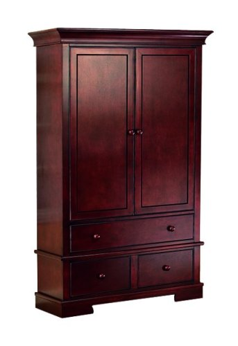 Amazon Com Sorelle Hampton Armoire Cherry Discontinued By