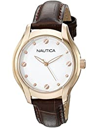 Womens N11634M NCT 18 Mid Analog Display Quartz Brown Watch · Nautica