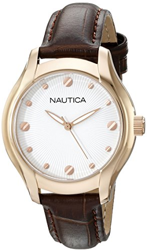 Nautica Women's N11634M NCT 18 Mid Analog Display Quartz Brown Watch
