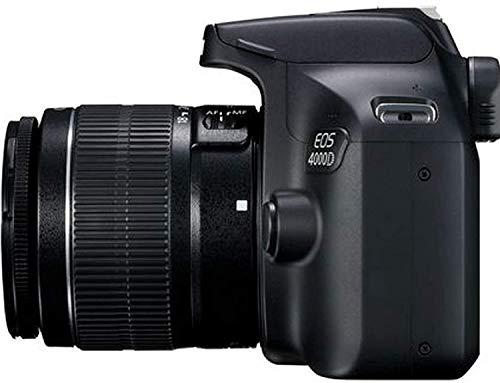 Canon EOS 4000D DSLR Camera w/Canon EF-S 18-55mm F/3.5-5.6 III Zoom Lens + Case + 32GB SD Card+ More+ TopKnotch Cloth
