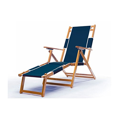 Oak Wood Beach Chair Color: Navy Blue (Chair Wood Beach)