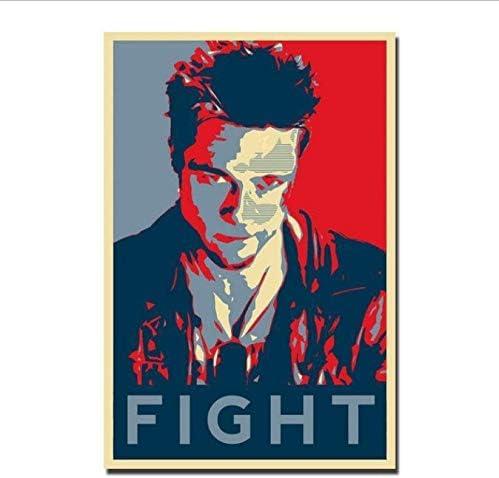 Yhnjikl Fight Club Classic Fighting Movie Film Vintage Hot New Art Poster Top Silk Light Canvas Home Decor Wall Picture Print 40 X 60 Cm Without Frame Amazon De Kuche Haushalt