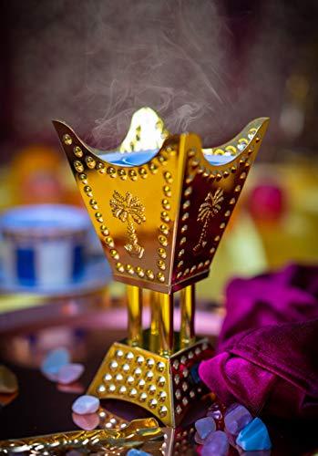 ATTAR MIST Electric Incense Resin Frankincense Bakhoor Burner 110V - Square  Gold, Free Tongs