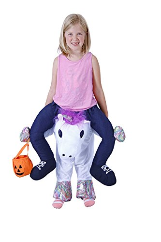 Costume Agent Men's Piggyback UNICORN Ride-On Costume, Unicorn, Youth