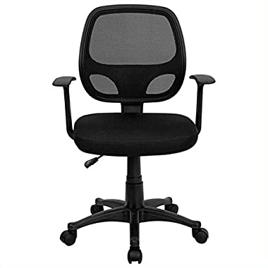 MidBack Black Mesh Swivel Task Chair